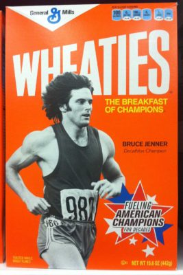Bruce Jenner finds his way onto the breakfast tables of America. The 'Keeping Up with the Kardashians' star is shown in his youthful glory on the front cover of 'Wheaties' cereal boxes on sale now. Jenner won Gold in the decathlon at the 1976 Olympic Games in Montreal. Pictured: Bruce Jenner Ref: SPL449710 201012 Picture by: Splash News Splash News and Pictures Los Angeles: 310-821-2666 New York: 212-619-2666 London: 870-934-2666 photodesk@splashnews.com
